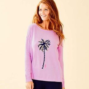 Lilly Pulitzer Caralynn Palm Tree Sweater